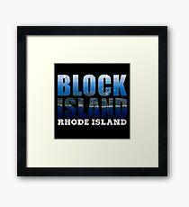 Block Island, Rhode Island Background Framed Print