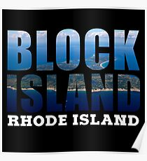 Block Island, Rhode Island Background Poster