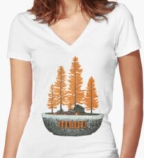 bon iver - I love the thought that people put into clothes.  Women's Fitted V-Neck T-Shirt