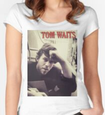 Tom Waits Under Review Women's Fitted Scoop T-Shirt