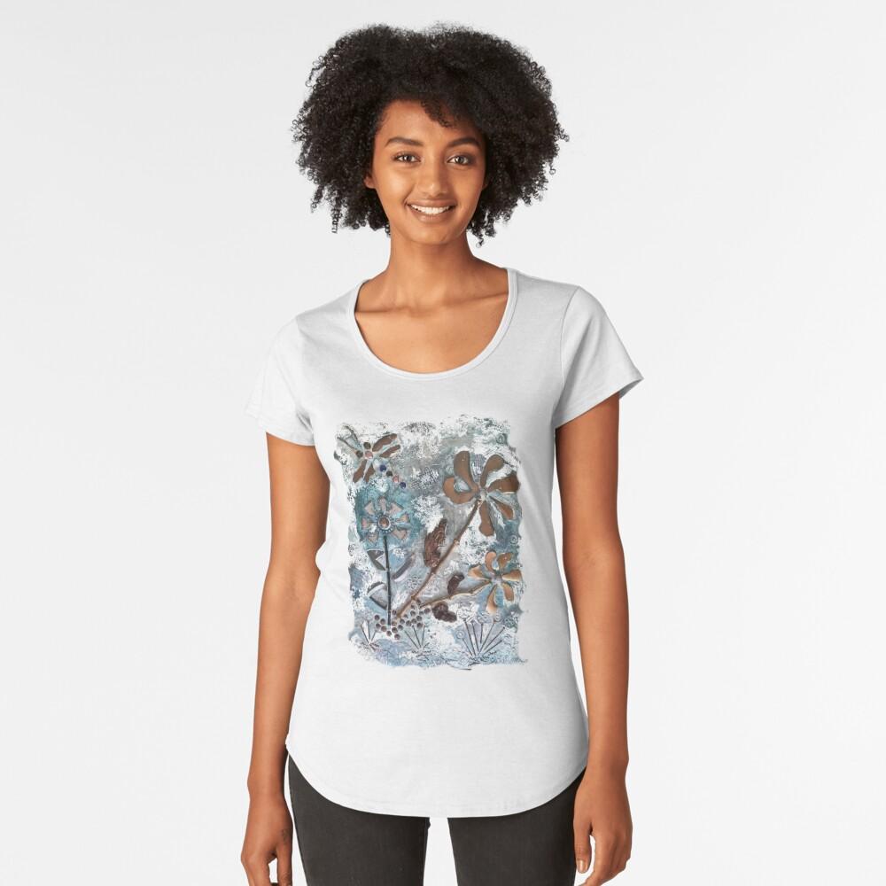 STEAMPUNK FLOWERS Premium Scoop T-Shirt