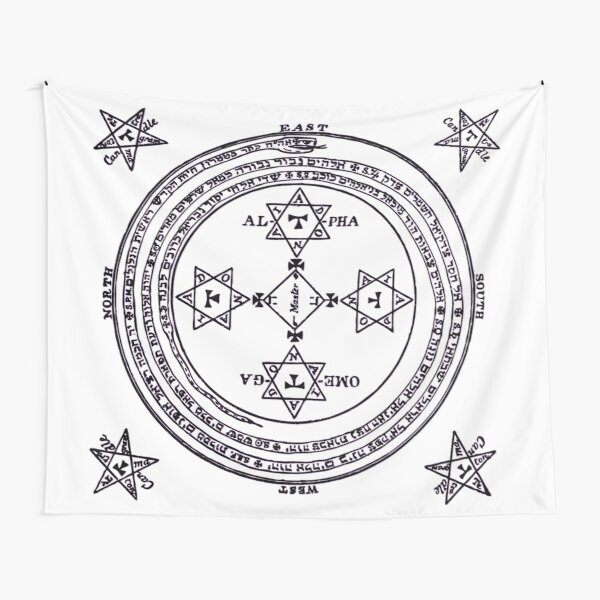 Magical Circle of King Solomon BIG Tapestry