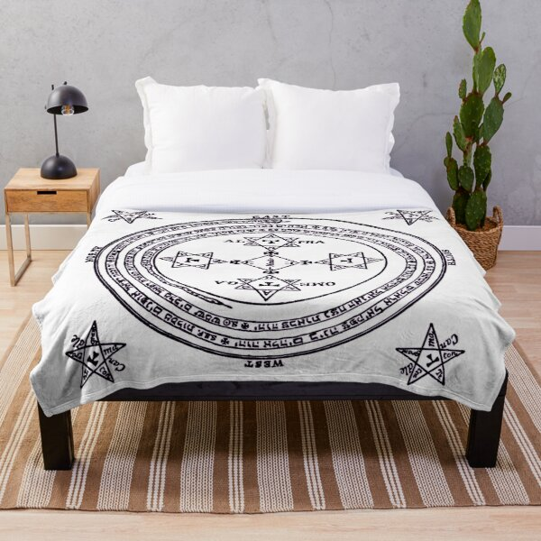Magical Circle of King Solomon BIG Throw Blanket