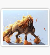 Fall Unicorn  Sticker