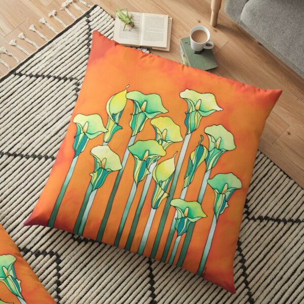 A bouquet of Lilies for you! Floor Pillow