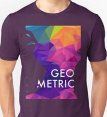 Polygon Colorful Abstract Pattern T-Shirt