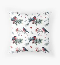 Nature Themed Rustic Christmas Pattern Throw Pillow