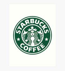 Starbucks Logo Drawing Art Prints