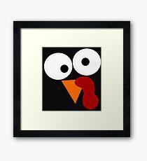 Goofy Funny Turkey Face Framed Print