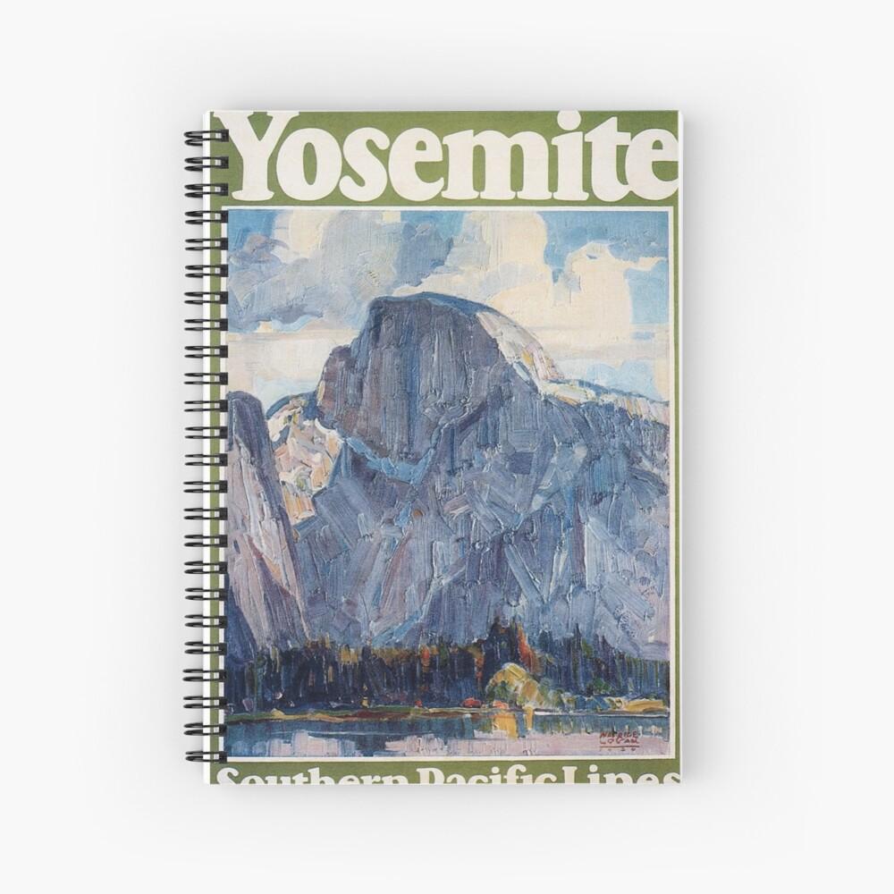 Weinlese-Yosemite-Reise-Plakat 1926 Spiralblock