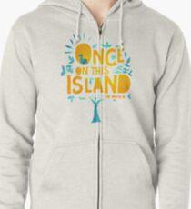 Sudadera con capucha y cremallera Una vez en esta isla