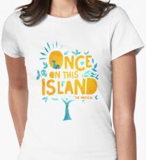 Camiseta entallada para mujer Una vez en esta isla