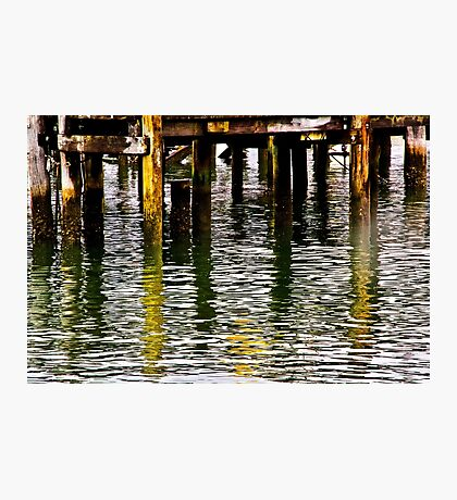 Wharf Reflections Photographic Print