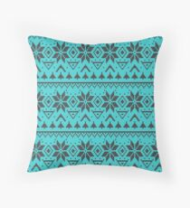 Knitted Christmas pattern retro 4   Throw Pillow