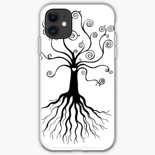 Tree of Life - black and white by Cecca Designs iPhone Soft Case