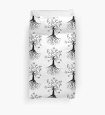 Tree of Life - black and white by Cecca Designs Duvet Cover