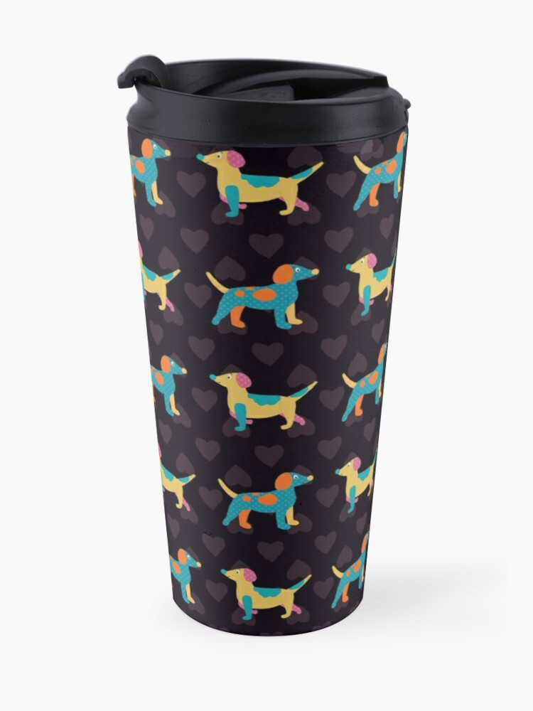 Alternate view of Paper Dogs in Blacklight Travel Mug