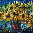 SUNFLOWERS - Spachtel von Lena Owens @OLena Art von OLena  Art ❣️