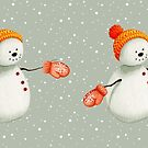 Snowman with Mittens by beelissa