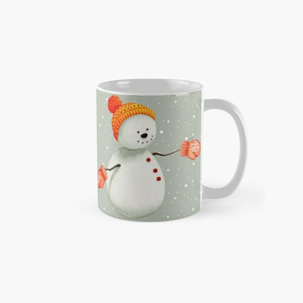 Snowman with Mittens Classic Mug