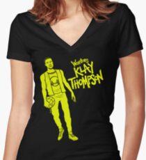 Thompson - Warriors Women's Fitted V-Neck T-Shirt