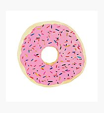 Donut with Frosting and Sprinkles Photographic Print
