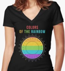 The Rainbow Women's Fitted V-Neck T-Shirt