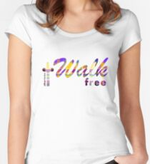 Walk Free Christian Design Women's Fitted Scoop T-Shirt