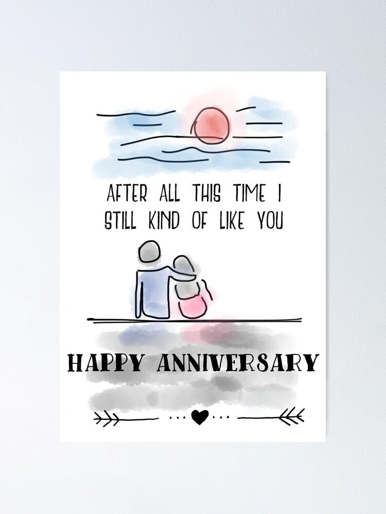 "Anniversary Humor"" Poster by crazycanonmom | Redbubble"