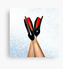 Christian Louboutin Sexy High Heel Red Bottoms Heels Up Canvas Print