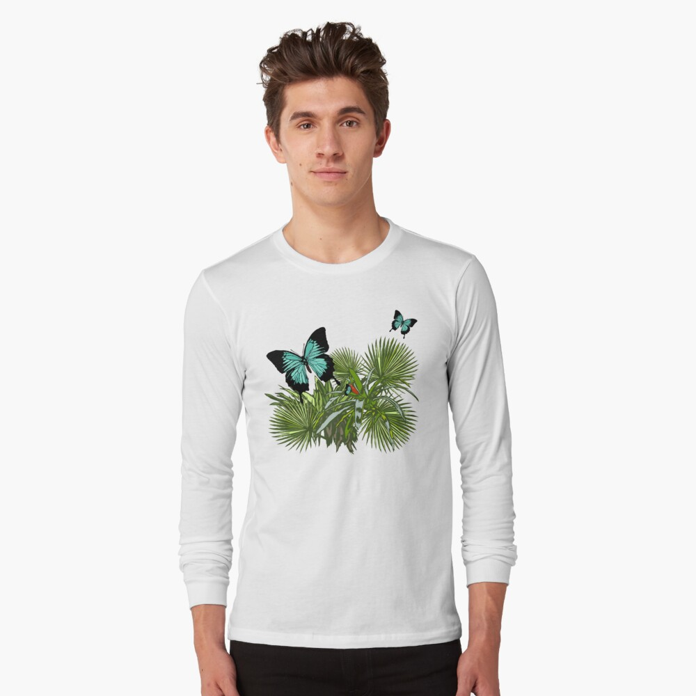 Rainforest Retreat: Ulysses butterfly Long Sleeve T-Shirt