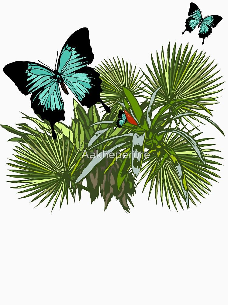 Rainforest Retreat: Ulysses butterfly by Aakheperure