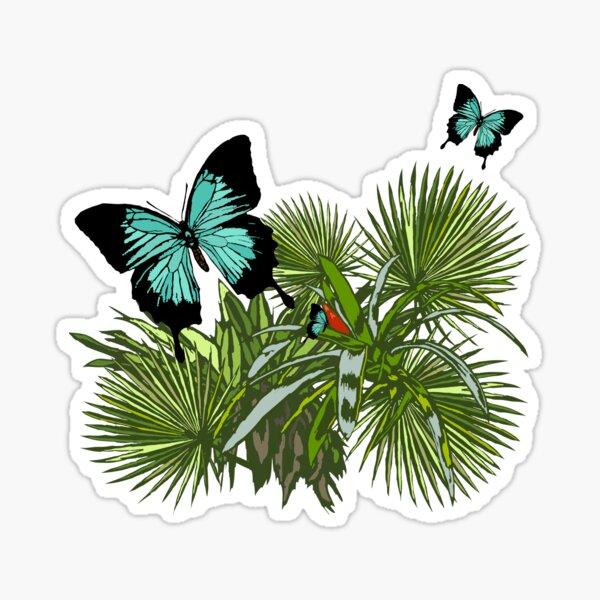 Rainforest Retreat: Ulysses butterfly Sticker