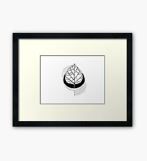 Geometric Birch Framed Print