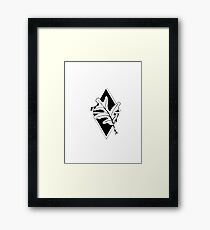 Geometric oak Framed Print