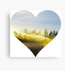Heart Landscape Tree Forest Park Leaf Grass Plant Natural Summer Outdoor Canvas Print