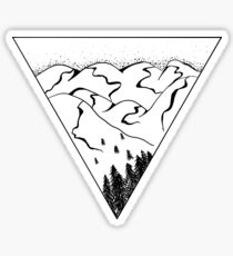 Catskills Triangle Mountains  Sticker