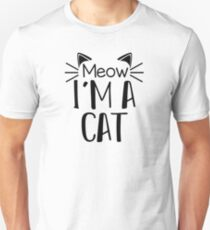 Meow I'm A Cat Halloween Shirt Cat Lover Funny Novelty Gift T-Shirt