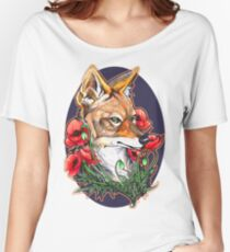 A Jackal and Poppies Women's Relaxed Fit T-Shirt