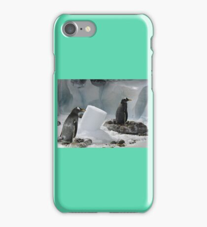 We Made It Ourselves, Honest (Penguins with Ice Column) iPhone Case/Skin