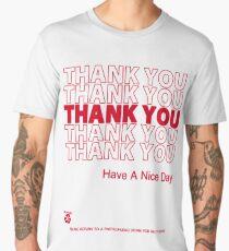 plastic bag shirt - thank you Men's Premium T-Shirt
