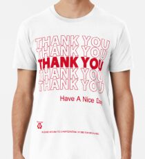 Camiseta premium camisa de bolsa de plástico - gracias