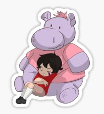Baby Keith: Hippo Pillow Sticker