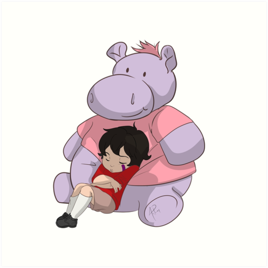 Baby Keith Hippo Pillow Art Prints By Artypants1017 Redbubble