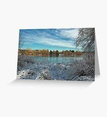 Winter landscape on the Deer Lake Park Greeting Card