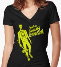 Livingston - Warriors Women's Fitted V-Neck T-Shirt