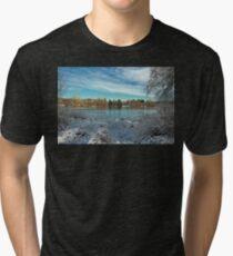Winter landscape on the Deer Lake Park Tri-blend T-Shirt