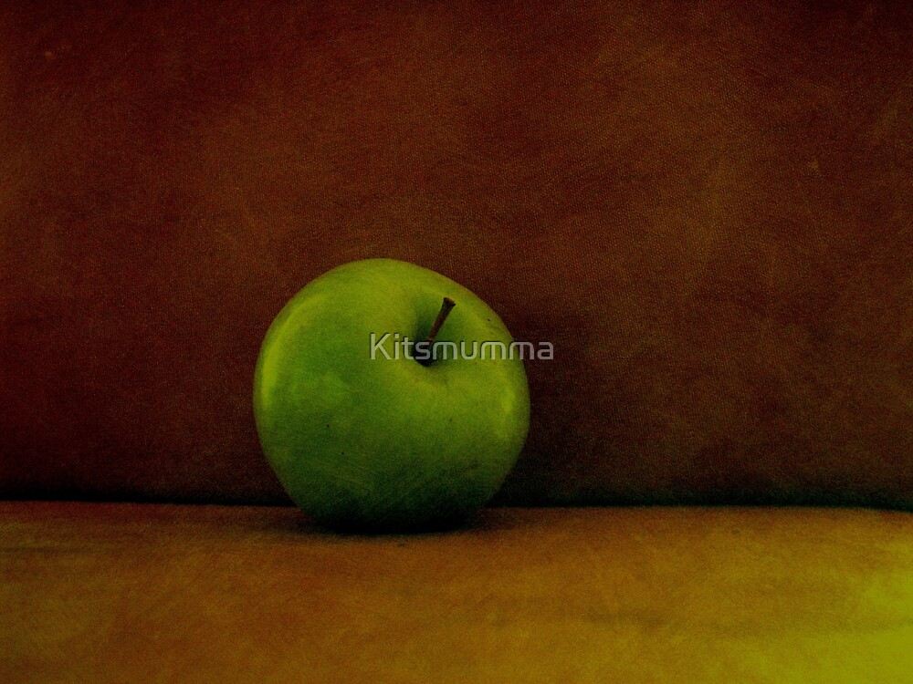 A Green Apple by Kitsmumma