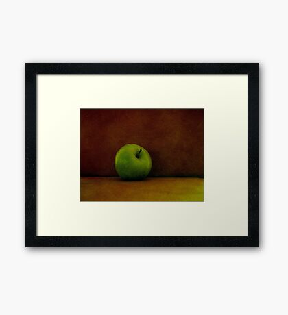 A Green Apple Framed Print