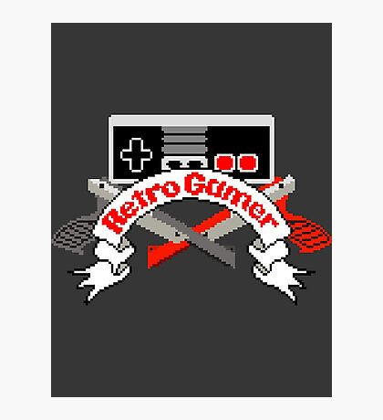 Retro Gamer Photographic Print